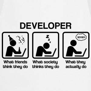 Developer - What my friends think I do T-Shirts - Cooking Apron