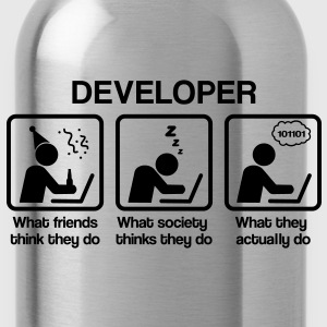 Developer - What my friends think I do T-Shirts - Water Bottle