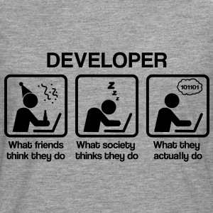 Developer - What my friends think I do T-Shirts - Männer Premium Langarmshirt
