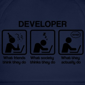 Developer - What my friends think I do T-Shirts - Baseballkappe