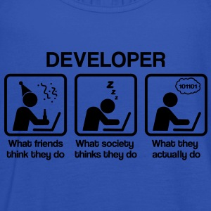 Developer - What my friends think I do Koszulki - Tank top damski Bella