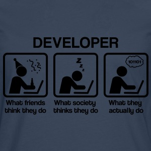 Developer - What my friends think I do T-Shirts - Men's Premium Longsleeve Shirt