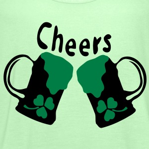 Cheers Green Beer shamrock st.patrick's day  Men's  Classic T-shirt  - Women's Tank Top by Bella