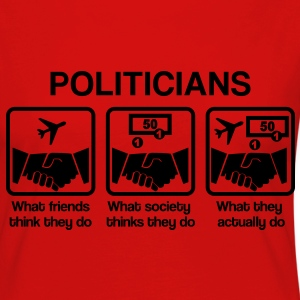 Politicians - What my friends think I do T-shirts - Långärmad premium-T-shirt dam