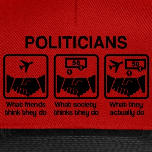 Politicians - What my friends think I do T-shirts - Snapbackkeps