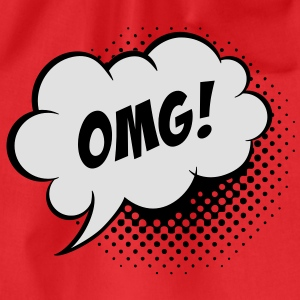 Speech balloon Oh my God T-shirts - Sportstaske