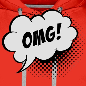Speech balloon Oh my God T-shirt - Felpa con cappuccio premium da uomo