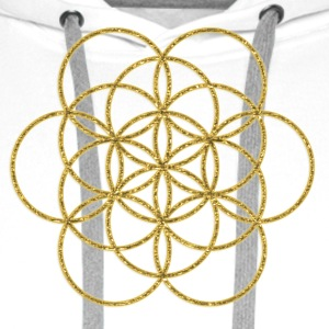 Feel the Harmony! EGG OF LIFE, digital, gold, sacred geometry, energy, symbol, powerful, icon, T-Shirts - Men's Premium Hoodie