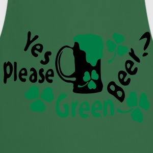 Green beer ? yes please shamrock st.patrick's day Women's Girlie shirt - Cooking Apron