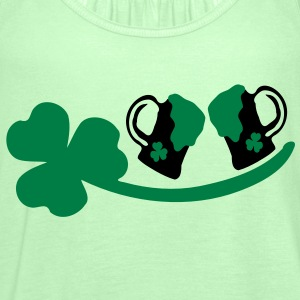 Cheers green beer  shamrock st. patrick's day Men's Classic T-Shirt - Women's Tank Top by Bella