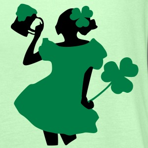 Green beer Irish girl shamrock st.patrick's dayWomen's Plus Size Shirt - Women's Tank Top by Bella