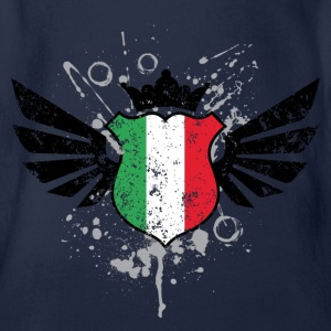 Italy soccer emblem flag Children's T-shirt - Organic Short-sleeved Baby Bodysuit