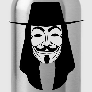 GUY FAWKES MASKE Anonymous ACTA Vendetta occupy T- - Trinkflasche