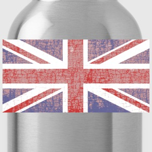 Drapeau Anglais usé Tee shirts - Water Bottle
