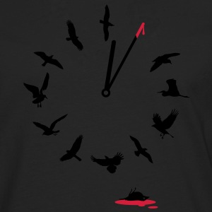 Doomsday Bird Clock Tee shirts - T-shirt manches longues Premium Homme