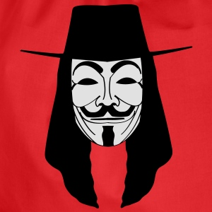 GUY FAWKES MASKE Anonymous ACTA Vendetta occupy T- - Turnbeutel