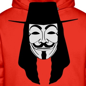 GUY FAWKES MASKE Anonymous ACTA Vendetta occupy T- - Männer Premium Hoodie
