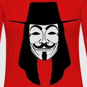 GUY FAWKES MASKE Anonymous ACTA Vendetta occupy T- - Frauen Premium Langarmshirt