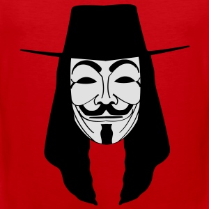 GUY FAWKES MASKE Anonymous ACTA Vendetta occupy T- - Männer Premium Tank Top