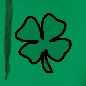Irish Leaf two coloured T-shirts - Mannen Premium hoodie