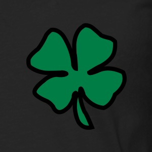 Irish Leaf two coloured T-shirts - Mannen Premium shirt met lange mouwen