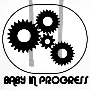 Baby i Progress / Larm barn T-shirts - Premiumluvtröja herr