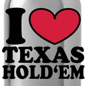 I love Texas Hold'em T-Shirts - Water Bottle