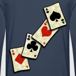vintage poker cards Tee shirts - T-shirt manches longues Premium Homme