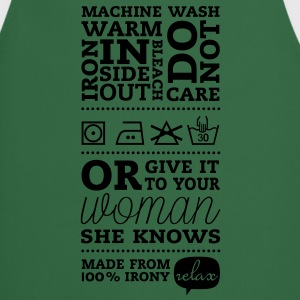 Laundry label Woman Knows T-shirts - Keukenschort