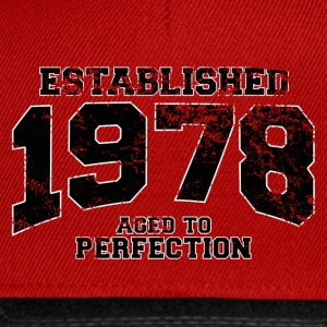 established 1978 - aged to perfection(fr) Tee shirts - Casquette snapback