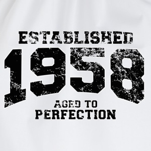 established 1958 - aged to perfection(uk) T-Shirts - Drawstring Bag