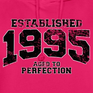 established 1995 - aged to perfection(fr) Tee shirts - Sweat-shirt à capuche unisexe