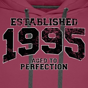 established 1995 - aged to perfection(it) T-shirt - Felpa con cappuccio premium da uomo