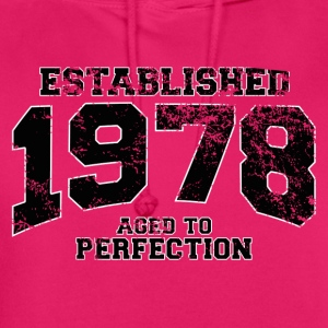established 1978 - aged to perfection(fr) Tee shirts - Sweat-shirt à capuche unisexe