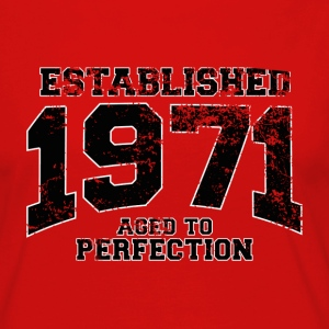 established 1971 - aged to perfection(fr) Tee shirts - T-shirt manches longues Premium Femme
