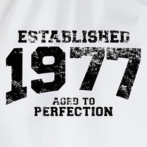 established 1977 - aged to perfection(nl) T-shirts - Gymtas