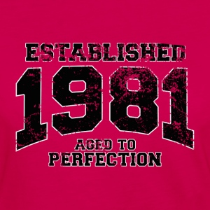 established 1981 - aged to perfection(fr) Tee shirts - T-shirt manches longues Premium Femme