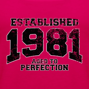 established 1981 - aged to perfection(fr) Tee shirts - Débardeur Premium Femme