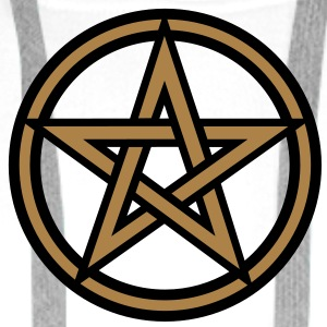 Pentagram amulet- Sign of intellectual omnipotence and autocracy. 2c, Star of the Magi , powerful symbol of protection T-shirts - Mannen Premium hoodie