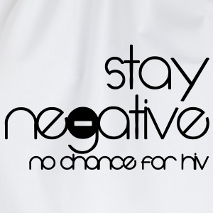 stay negative - anti hiv Camisetas - Mochila saco