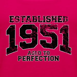 established 1951 - aged to perfection(fr) Tee shirts - Débardeur Premium Femme