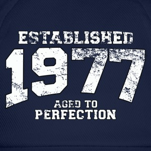 Geburtstag - established 1977 - aged to perfection - Baseballkappe