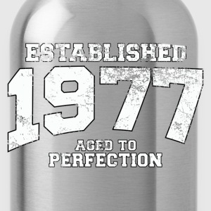 Geburtstag - established 1977 - aged to perfection - Trinkflasche