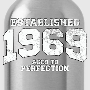 established 1969 - aged to perfection (uk) T-Shirts - Water Bottle