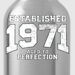 established 1971 - aged to perfection (nl) T-shirts - Drinkfles