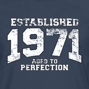 established 1971 - aged to perfection (nl) T-shirts - Mannen Premium shirt met lange mouwen