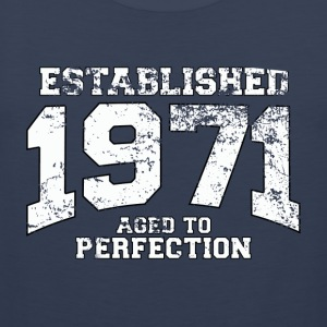 established 1971 - aged to perfection (nl) T-shirts - Mannen Premium tank top
