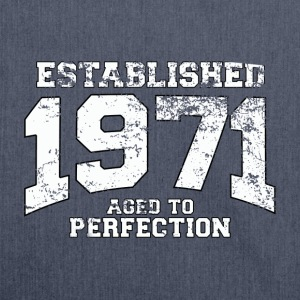 established 1971 - aged to perfection (nl) T-shirts - Schoudertas van gerecycled materiaal