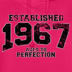established 1967 - aged to perfection(fr) Tee shirts - Sweat-shirt à capuche unisexe