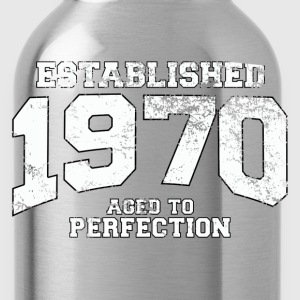 Geburtstag - established 1970 - aged to perfection - Trinkflasche